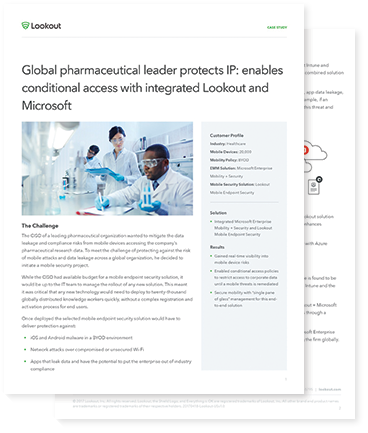 Pharmaceutical leader Case Study