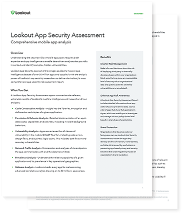 Lookout App Security Assessment Datasheet